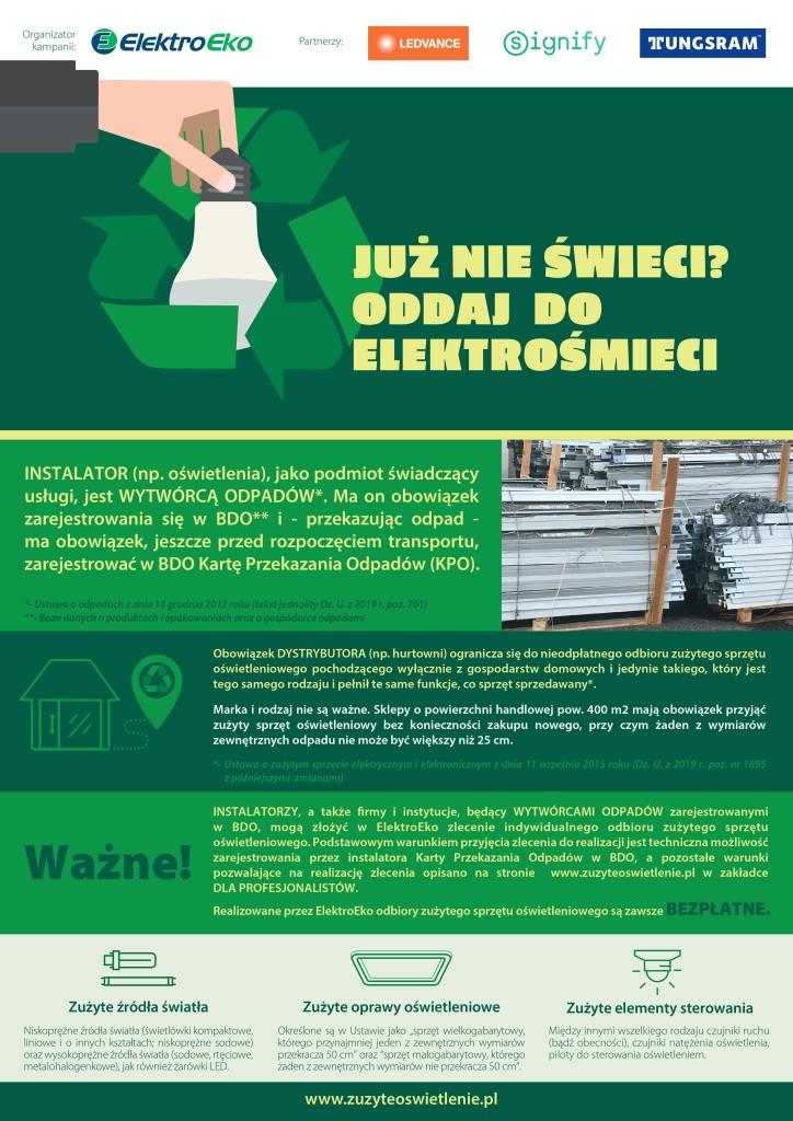 Zużyte oświetlenie -plakat Forum-Rondo